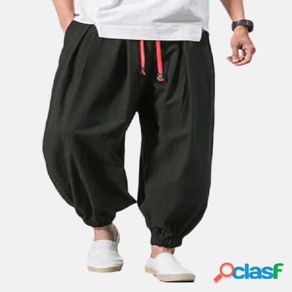 Harem pantaloni in cotone