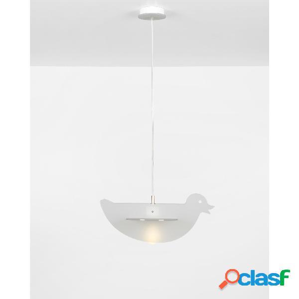 Lampada a sospensione 1 luce DUCK 43x50xh20 cm per camerette