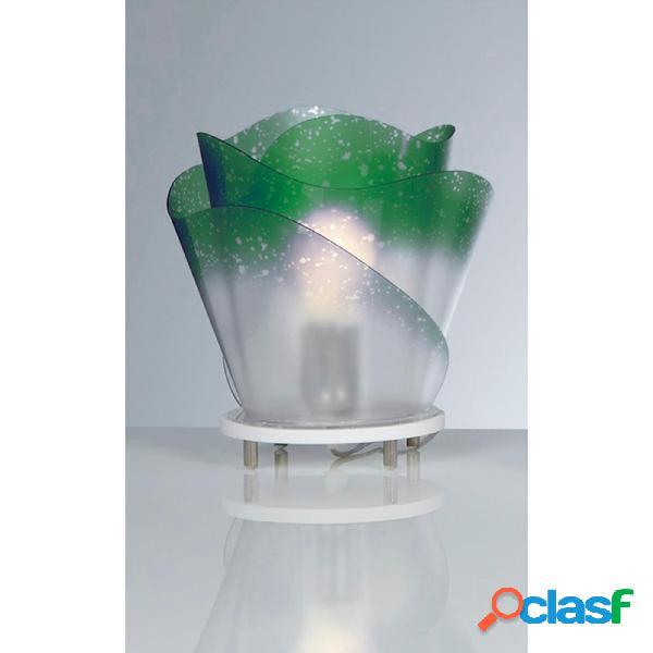 Lampada da tavolo ROSA con paralume in policarbonato