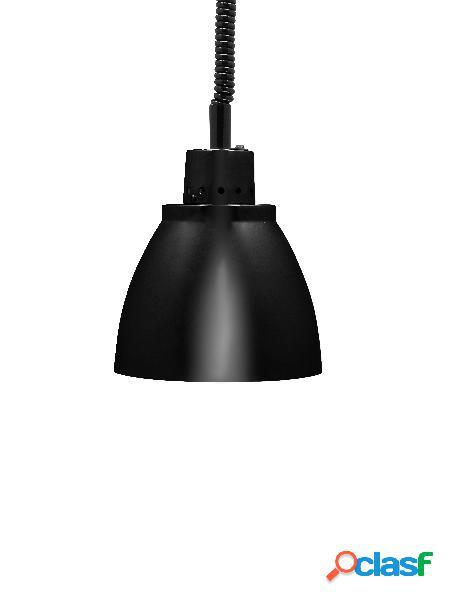 Lampada riscaldante in alluminio nero - diametro 225 mm -
