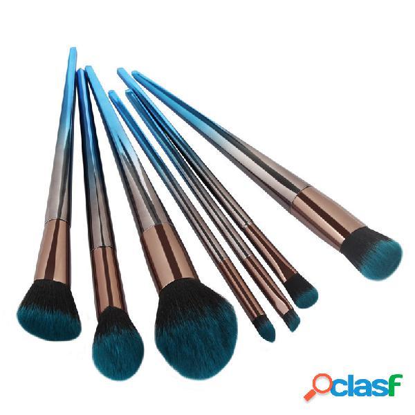 MAANGE Diamante sfumato nero blu Trucco Spazzole Set