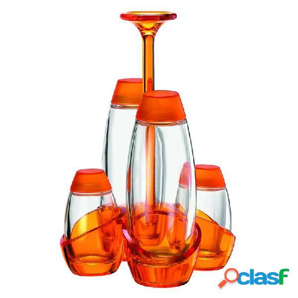 Menage Olio Aceto sale pepe 13x13xh22 cm 180cc 52cc Happy