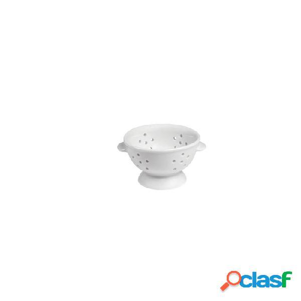 Mini Colapasta 2 Manici In Porcellana Bianca Cm 7X4,5 -