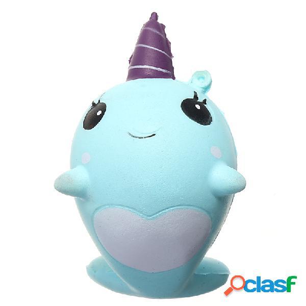 Narwhal Blu Balena Squishy Toy Carino Morbido Comodo con