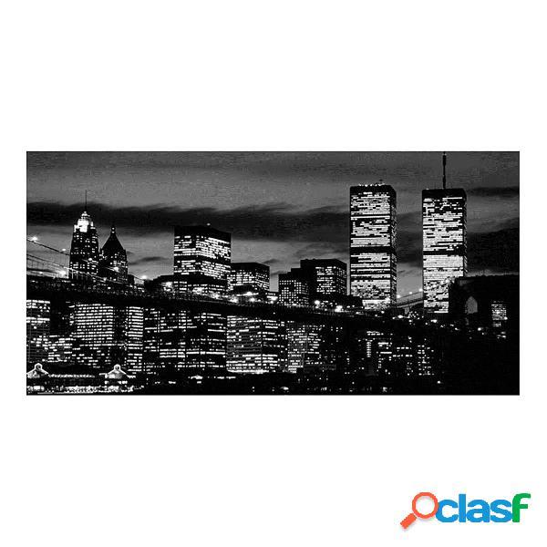 New York City Bianco Nero 61 cm x 31 cm CANVAS WALL ART
