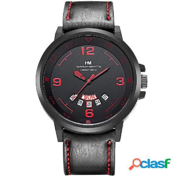 Orologi da uomo impermeabili in pelle per orologi da uomo al