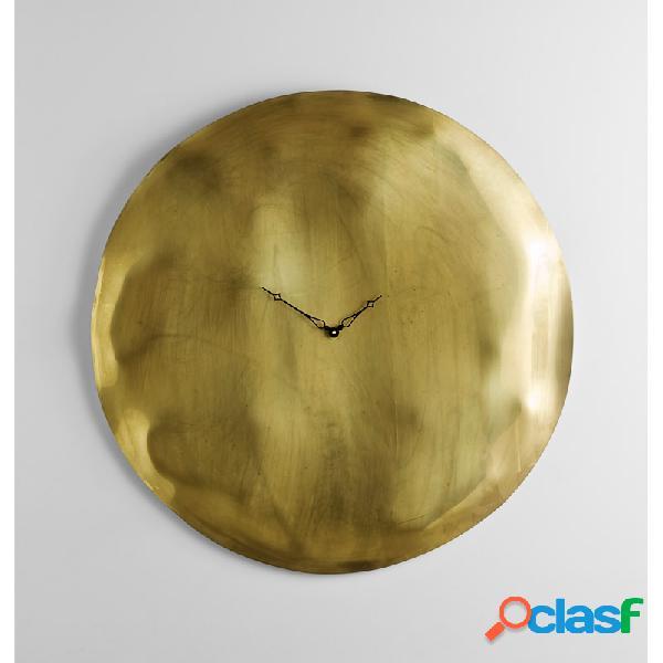 Orologio da Parete cassa in vetro foglia oro Ø 45 design