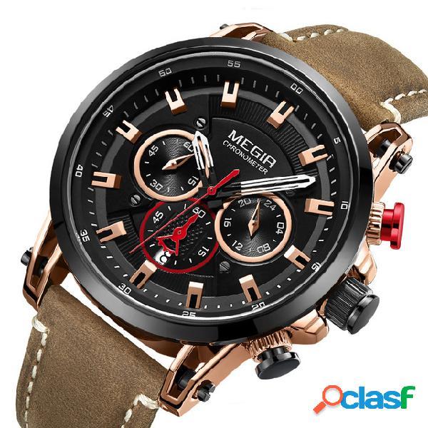 Orologio da polso da uomo di moda con orologio al quarzo
