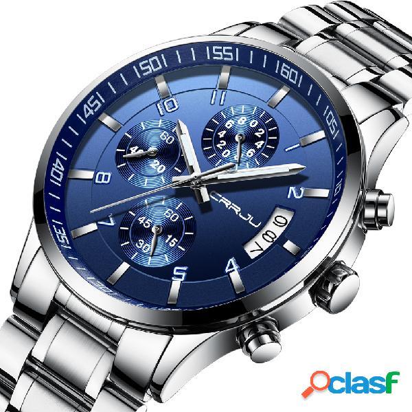 Orologio da polso impermeabile al quarzo con orologio da