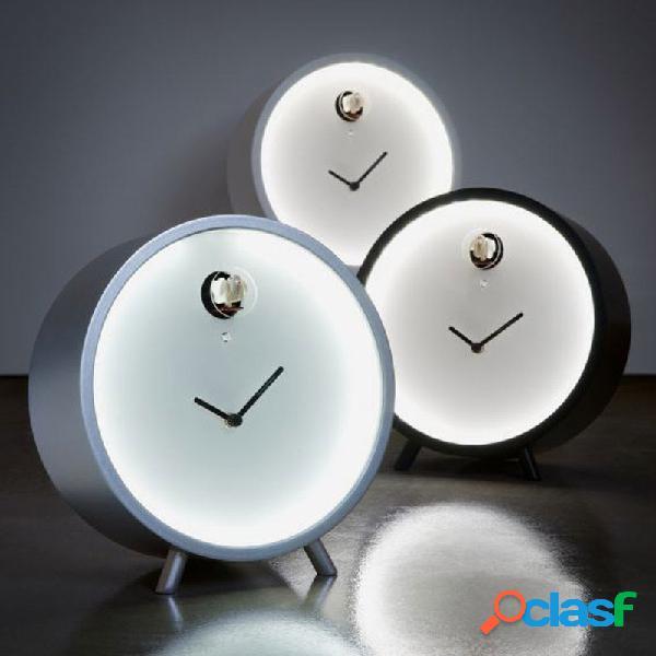Orologio da tavolo PLEX luce LED con cassa in multistrato di