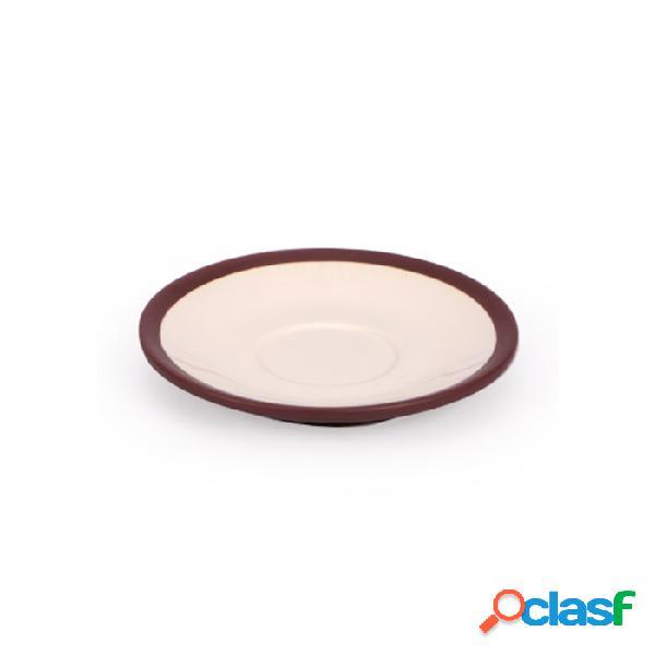 Piatto Per Tazza Colazione Coffee&Co In Porcellana Marrone