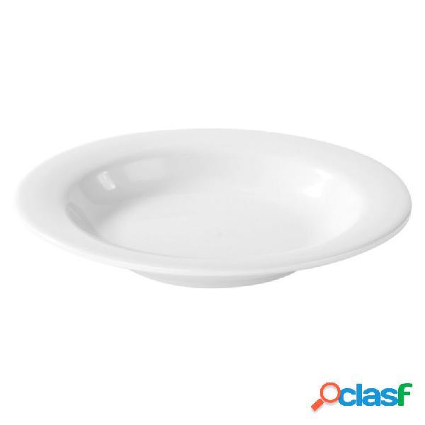 Piatto fondo in melamina extraforte con diametro 240 mm