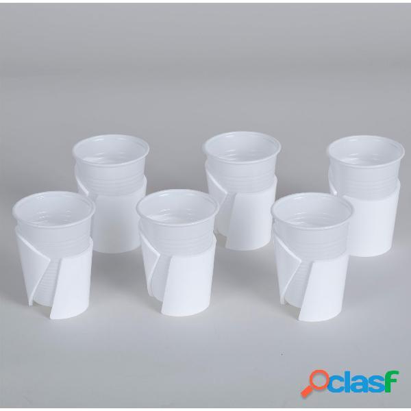 Reggibicchieri set 6 pezzi LIKE WATER Ø6xh6,2 cm In Plexi
