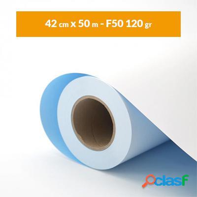 Rotolo carta plotter blue back A2 bianco (42 cm x 50 m - F50