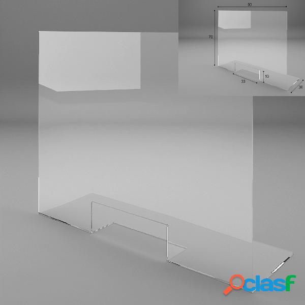 Schermo Protettivo parafiato larghezza 90 cm in plexiglass