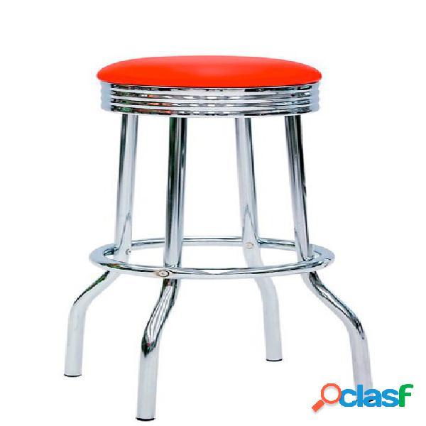 Sgabello Sour con struttura in metallo cromato e seduta