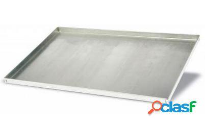 Teglia quadrata in acciaio inox 600 mm x 400 mm - altezza 2