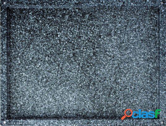 Teglia quadrata in acciaio inox smaltato 600 mm x 400 mm x H