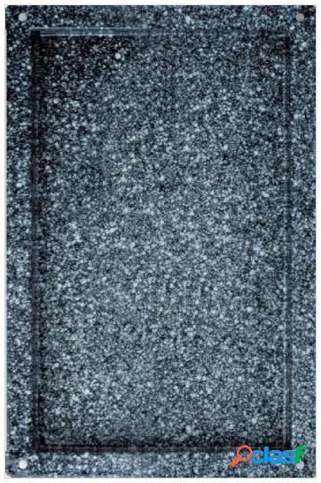 Teglia quadrata smaltata in acciaio inox GN 1/1 - 530 mm x