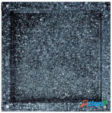 Teglia quadrata smaltata in acciaio inox GN 2/3 - 353 mm x