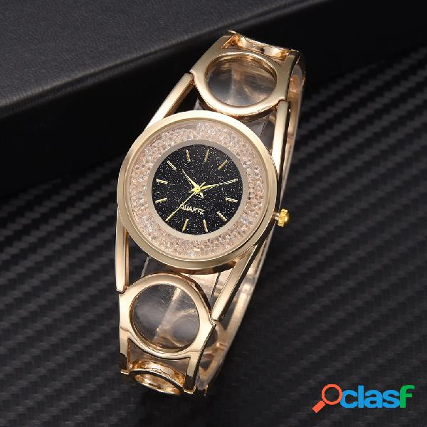 Trendy Diamond Alloy Watch Orologio al quarzo con quadrante