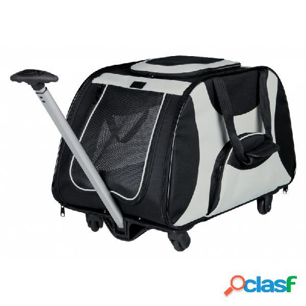 Trixie - Trolley Roulotte Trasportino Per Cani Grigio