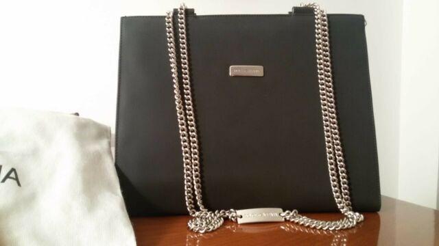 Borsa originale Dolce & Gabbana nera in satin con tracolla a