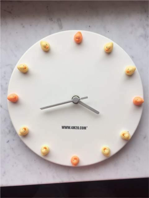 Orologio da muro con papere