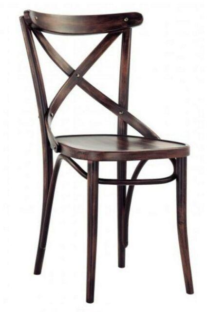 Sedia ristorante thonet in legno di faggio con schienale a