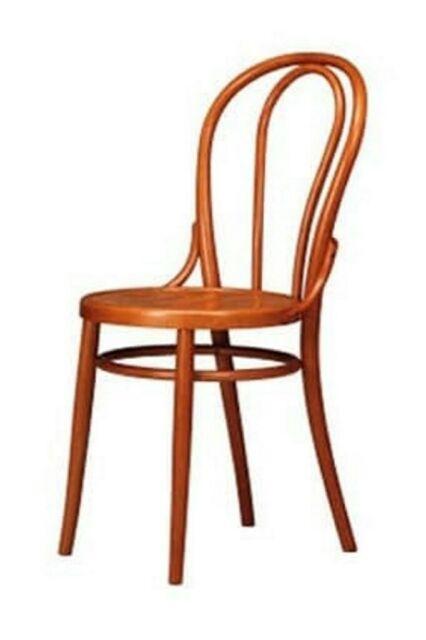 Sedia thonet in legno di faggio massello con seduta in