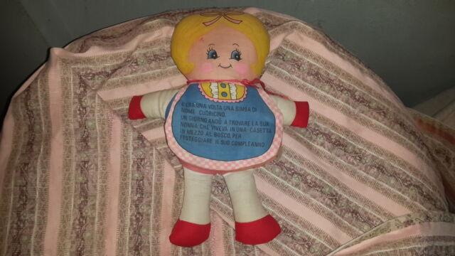 Bambola GIG in stoffa anni '80