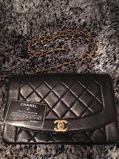 Borsa Chanel Diana Flap Classic 2,55 in pelle nera