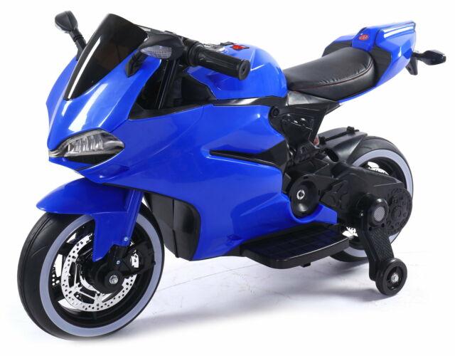 Moto Elettrica Per Bambini 12v Rolland Challenge Blu