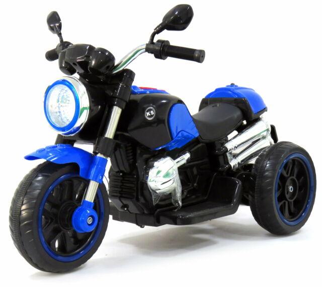 Moto Elettrica Per Bambini 12v Rolland Custom Blu