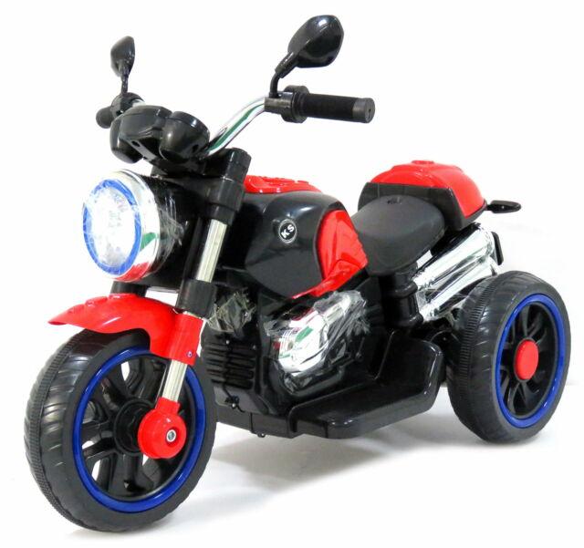 Moto Elettrica Per Bambini 12v Rolland Custom Rosso