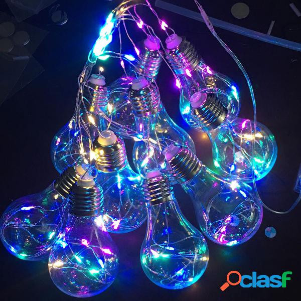 10 lampadine LED String Fairy Light Hanging Firefly Party