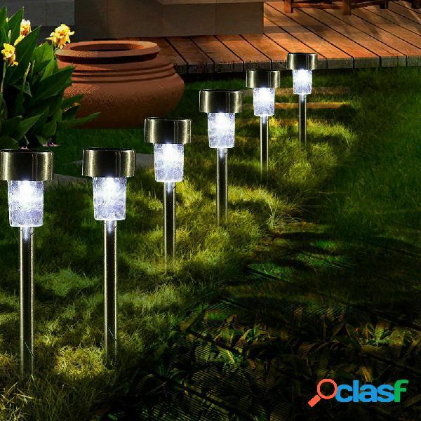 16pcs LED solare Lampade da giardino in acciaio inossidabile