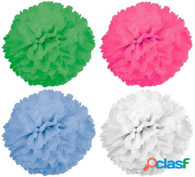 2 pompon di carta di 42 cm di diametro in vari colori