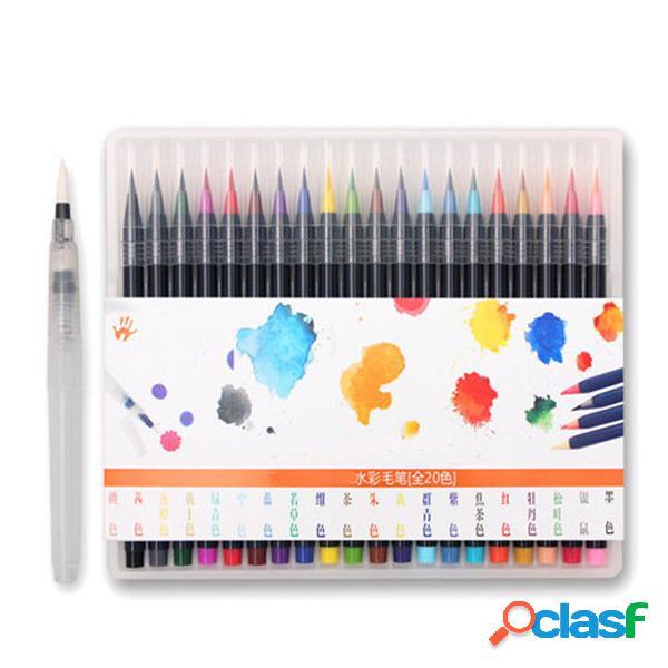 20 Colori Watercolor Calligraphy Disegno pittura Pennello