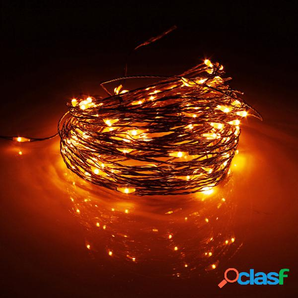 20M 200 LED solare Powered Rame Wire String Fairy Light