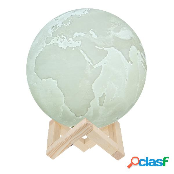 3D USB ricaricabile Earth Night Light Tap Control o Touch