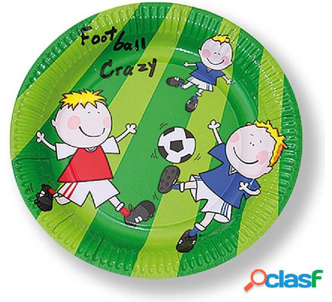 6 piatti da calcio usa e getta da 22 cm di diametro
