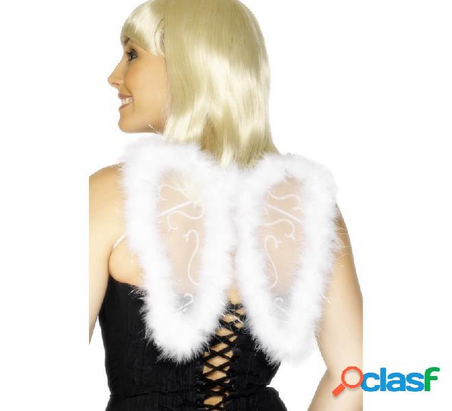 Ali d'angelo con glitter e marabou 25x20cm