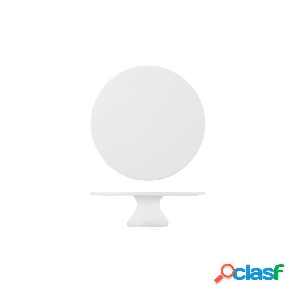 Alzata Torta In Porcellana Bianca Cm 20X8,5 - Bianco