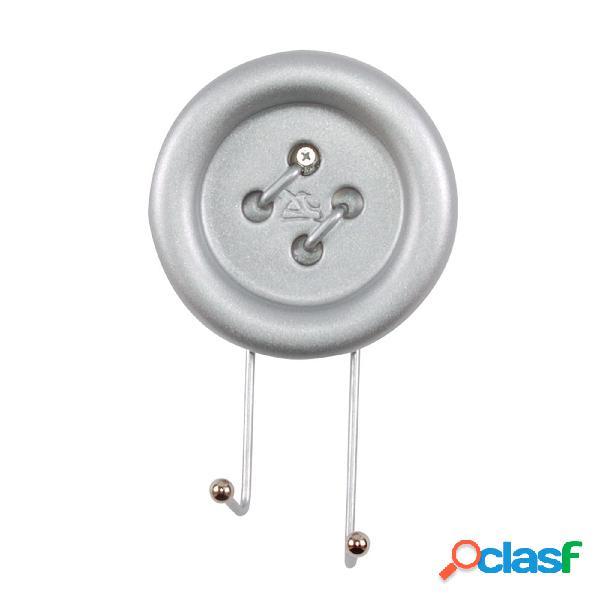 Appendiabiti da Parete Big Button 12x5xh20 cm in Metallo e