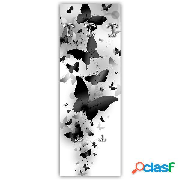 Appendiabiti da parete in Legno 49xh139 cm BLACK BUTTERFLIES