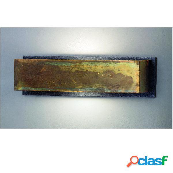 Applique da Muro LOLA Rettangolare 35x10xh9 cm in Ottone
