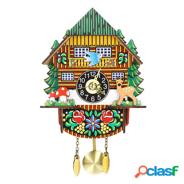 Artigianato in legno Orologio a cucù Casa in stile albero