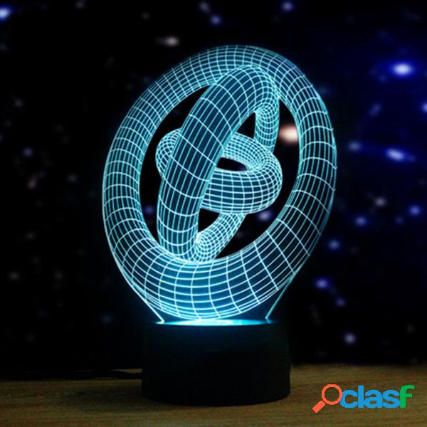Artistico 3D Night Light 7 colori che cambiano LED Touch