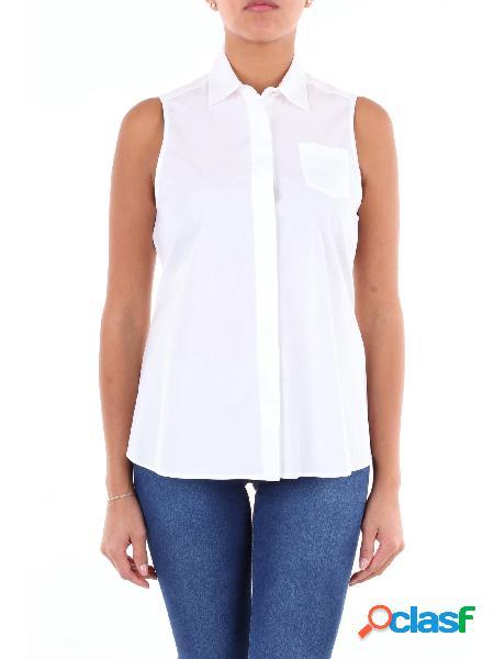 BARBA Barba camicia senza maniche di colore bianco Camicie